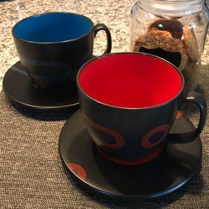 HOT PICK Ikea Two Sets Large Coffee Mugs